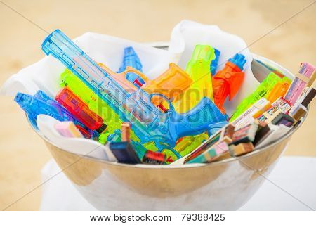 Colorful Of Water Gun