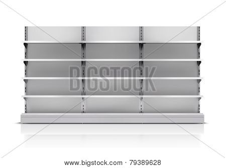 Supermarket Shelf Isolated