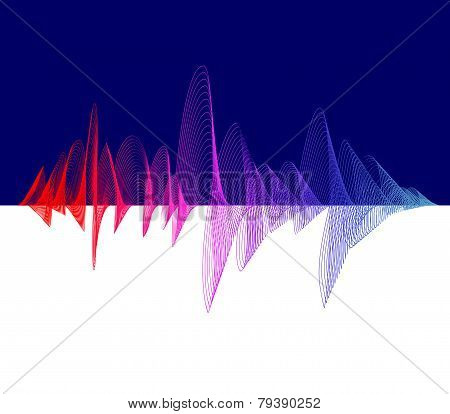 Vector equalizer, colorful. Dark background