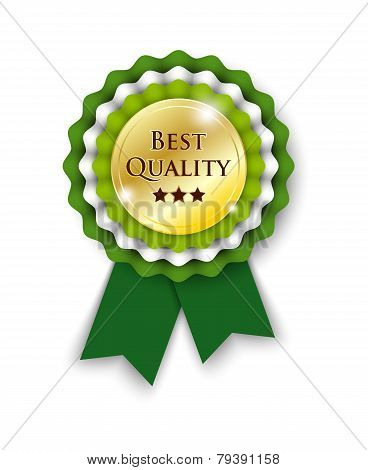 Green Rosette With Text Best Quality