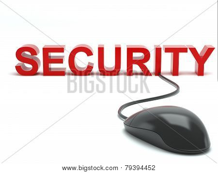 Security connected to a computer mouse