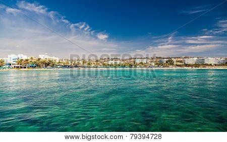 Ayia Napa Town Coastline