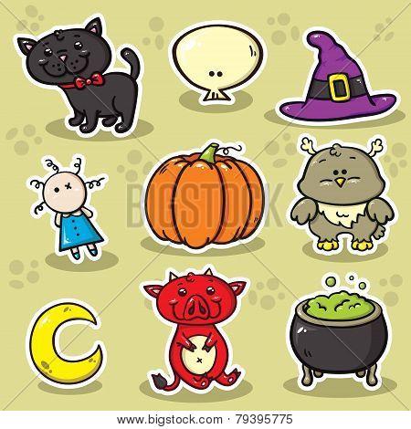 1 Set Of Halloween Icons.eps