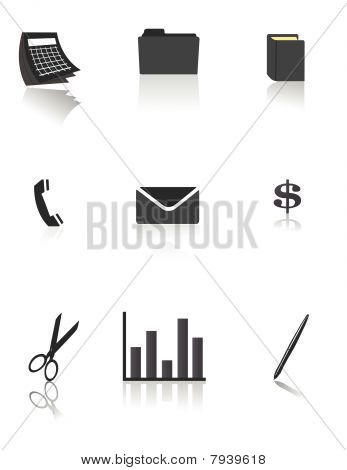 Business and Office icons / vector