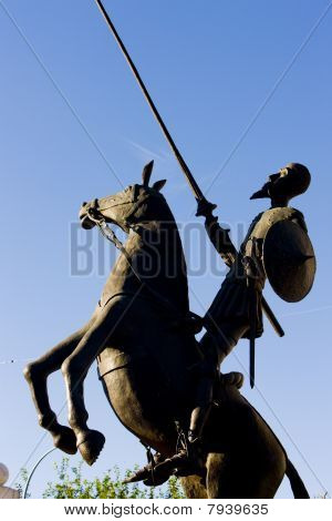 statue of Don Quijote Campo de Criptana Castile-La Mancha Spain