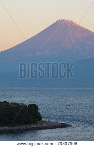 Mountain Fuji and sea