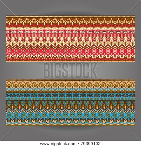 Set Of Beautiful Vintage Ornate Banners