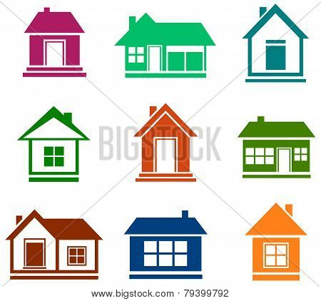 colorful cottage set
