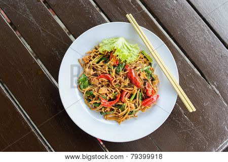Malay style stir fried noodles