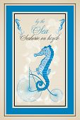 image of seahorse  - a Seahorse on bicycle poster  - JPG