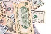 foto of two dollar bill  - Dollar Bills close up - JPG