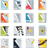 foto of png  - Set of icons representing different types of files - JPG