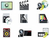 Vector video icons. Part 1