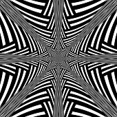stock photo of hypnotizing  - Black and White Abstract Hypnotic Background - JPG