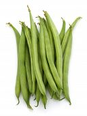 picture of bean-pod  - Green beans handful isolated on white background cutout - JPG
