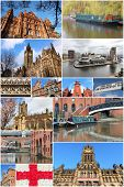 image of city hall  - Manchester UK travel photos collage - JPG