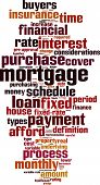 pic of amortization  - Mortgage word cloud concept - JPG