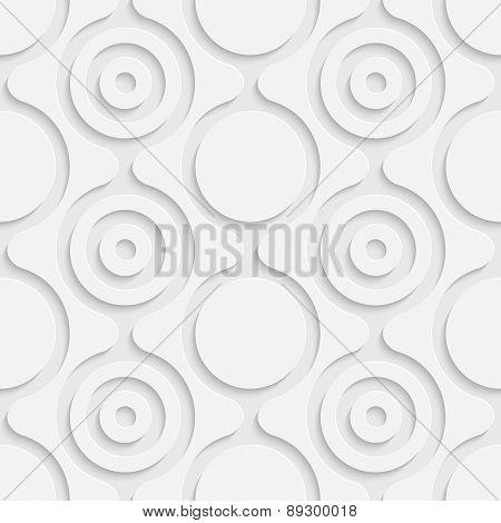 Seamless Damask Pattern. Vector Soft Background. Regular White Texture
