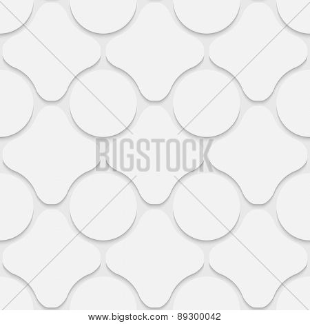 Seamless Grid Pattern. Vector Soft Background. Regular White Texture