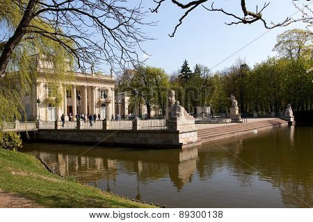 Warsaw.lazienki (bath)royal Park.palace On The Water