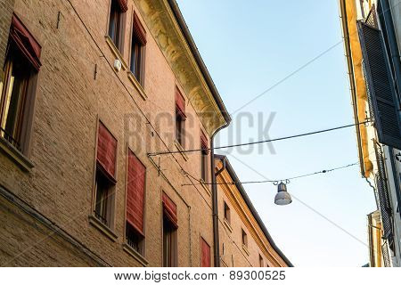 Ancient Medieval House In The Downtown Of Ferrara