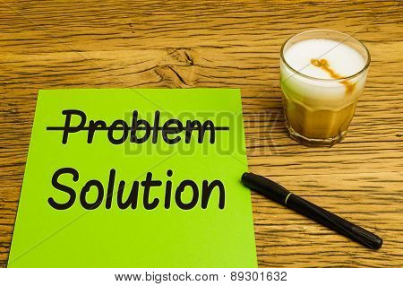 Business Concept Problem Solution Green Paper