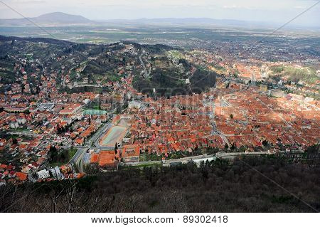 Aerial View Of Brasov Town