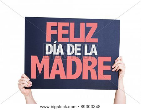 Happy Mothers Day (in Spanish) card isolated on white