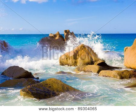 Waves Storm Stones