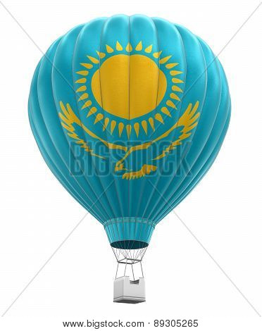 Hot Air Balloon with Kazakh Flag (clipping path included)