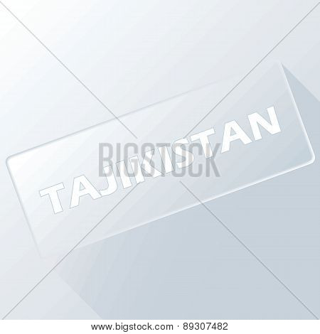 Tajikistan unique button