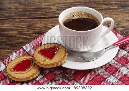 Cookies With Jam And Coffee