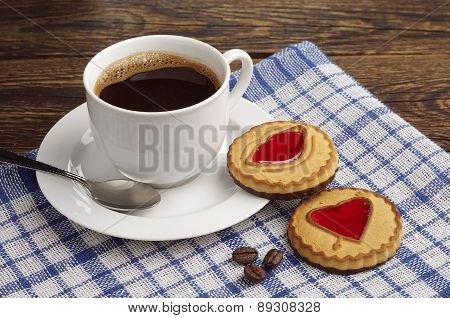 Coffee And Cookies With Jam