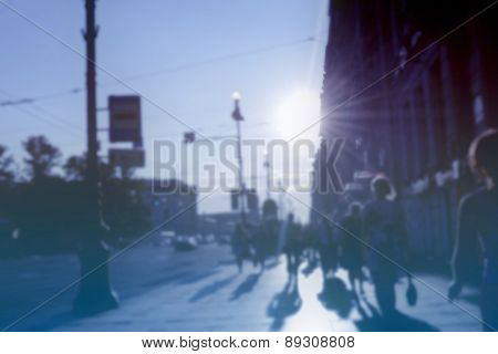 blurred urban life