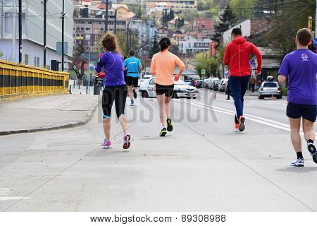 Marathon Runners On The Street