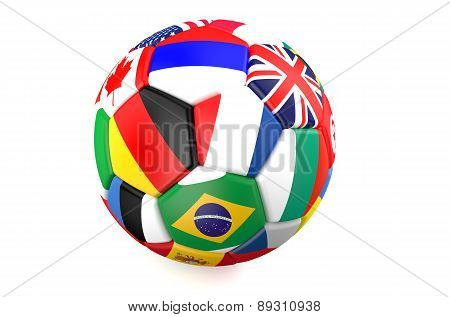 Soccer Ball With Flags Of Countries