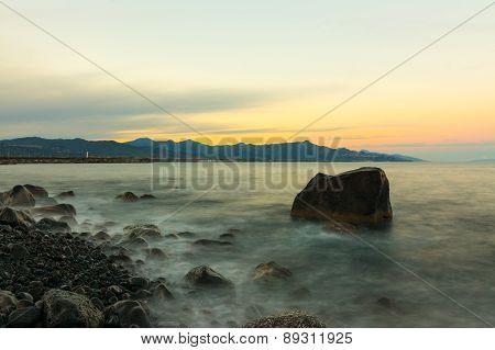 Italian Sunset Over The Ionian Sea