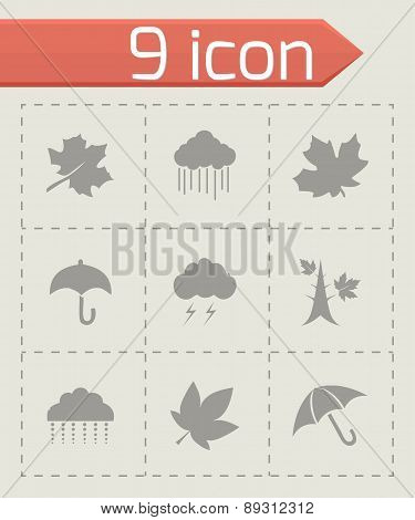 Vector autumn icon set