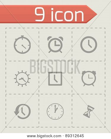 Vector clock icon set