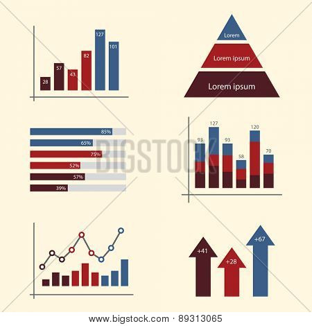 Infographic Elements. Charts