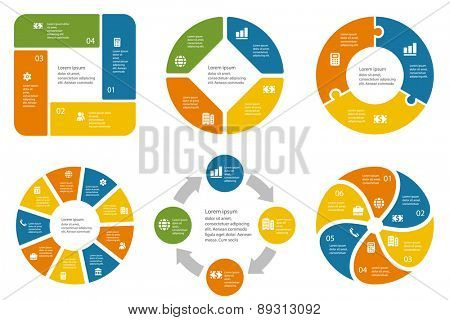 Infographic template for cycling diagram, graph, presentation and chart