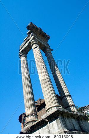 Roman columns ruins