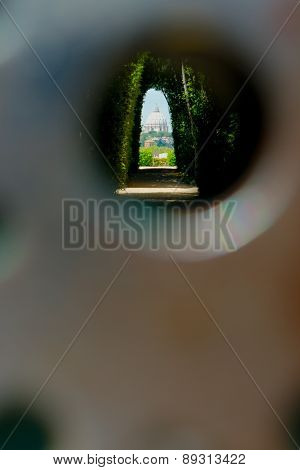 Rome through keyhole
