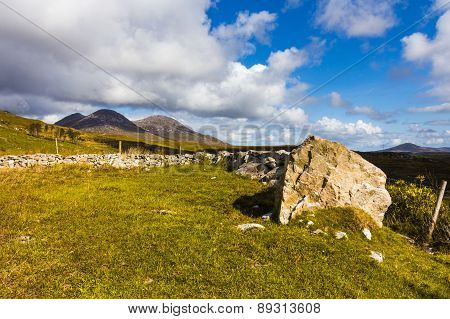 Large Rock In Irish Countryside