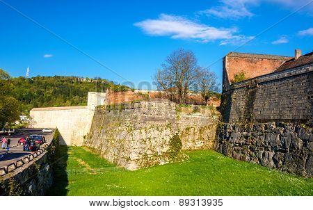 Walls Of The Citadel Of Besancon - France
