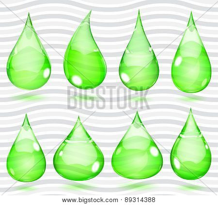 Transparent Green Drops