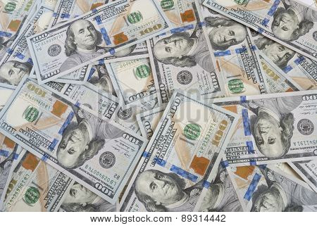 Background of american dollars bills