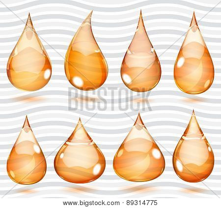 Transparent Orange Drops