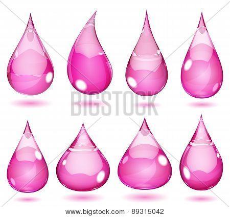 Opaque Pink Drops