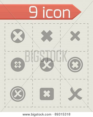 Vector rejected icon set
